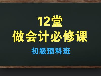 12堂做会计必修课(初级预科班)